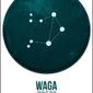 Znak zodiaku, waga - plakat wymiar do wyboru: 40x60 cm