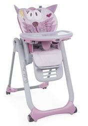 Chicco polly 2 start miss pink krzesełko do karmienia + kubek + talerzyk