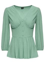 Shirt ze strukturalnego materiału bonprix zielony pastelowy