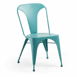 Krzesło CARRIBI turkusowe - turkusowy