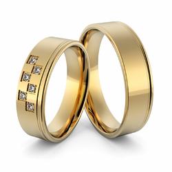 Obrączki ślubne z brylantami - Au-999