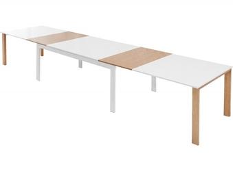 Stół rozkładany do jadalni Margaret 180-420x100 cm biały
