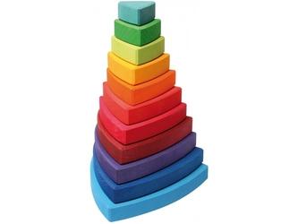 KOLOROWA WIEŻA drewniana piramidka do sortowania