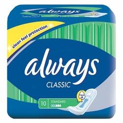 Always Classic Normal, podpaski higieniczne bez skrzydełek, 10 sztuk