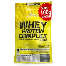 OLIMP Whey Protein Complex 100 - 500g + 100g Free - Strawberry