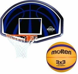 Tablica do koszykówki obręcz Lifetime Dallas 90065 + Piłka do koszykówki Molten 3x3 - B33T2000