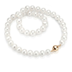 naszyjnik złotoi naturalne perły