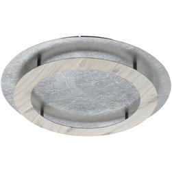 Duża, okrągła lampa sufitowa srebrno-drewniane okręgi RegenBogen 712011401