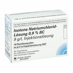 Isotone Natriumchlorid Lösung 0,9 ampułki