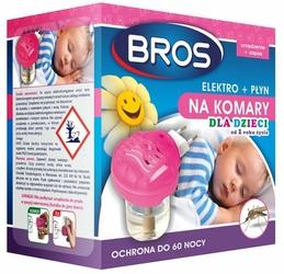 Bros Elektro Dla Dzieci, urządzenie elektryczne z płynem przeciw komarom, 60 nocy
