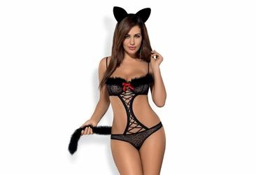 Strój kocicy Gepardina kostium 2-częściowy Obsessive