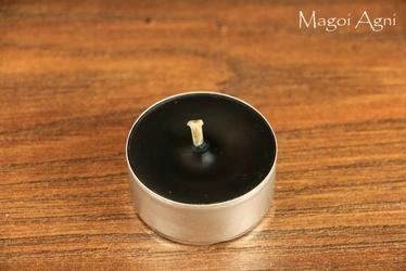 Tealight - czarna świeca z wosku herbaciarka