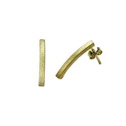 Staviori Kolczyki srebrne pr.925 pałki pokryte złotem 0,750