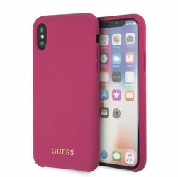 GUESS Etui hardcase GUHCPXLSGLPI iPhone X różowy Silicone