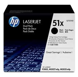 HP oryginalny toner Q7551XD, black, 13000s, HP 51X, HP LaserJet P3005, M3035mfp, M3027mfp, Dual pack, dual pack