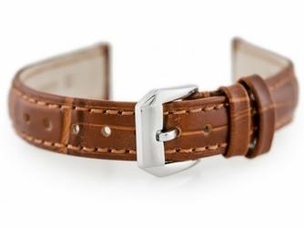 Pasek skórzany do zegarka W64 - brązowy - 12mm