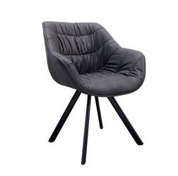 Krzesło tapicerowane Finn nowoczesne szare