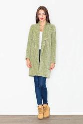 Zielony Płaszcz Przejściowy bez Zapięcia