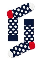 Skarpetki Happy Socks Big Dot - BD01-608 - granatowe w białe kropki