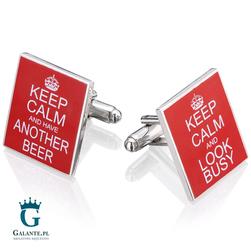Spinki do mankietów Keep Calm  Beer UE-00970