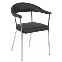 Krzesło Avat czarne ekoskóra