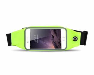 Etui saszetka nerka na telefon do biegania 5.5 cala zielona - Zielony