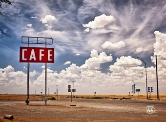 Route 66 - Kawiarnia - fototapeta