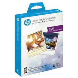 HP Social Media Snapshots, foto papier, połysk, biały, 265 gm2, 25 szt., W2G60A, atrament