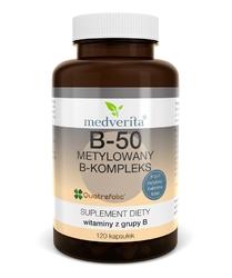 WITAMINA B-kompleks B-50 metylowany - 120 kapsułek