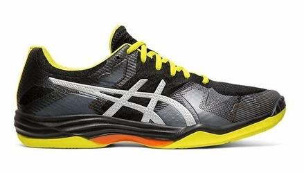 Buty sportowe męskie Asics GEL-TACTIC czarno-żółte tekstylne