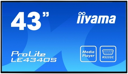 IIYAMA 43 LE4340S-B1 AMVA DVIHDMIUSB Player2x10W