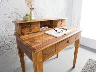 Drewniany sekretarzyk hemingway  90x50x90 cm