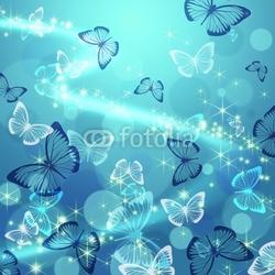 Obraz na płótnie canvas trzyczęściowy tryptyk motyl
