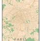 Paris mapa kolorowa - plakat wymiar do wyboru: 20x30 cm