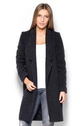 Czarny płaszcz jesionka bez zapięcia
