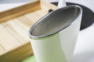 Wazon ceramiczny kremowy 19 cm owalny