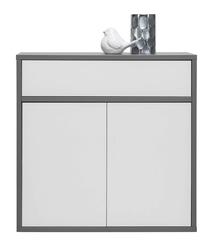 Komoda 3-strefowa - jasnopopielata - 90 x 50 x 90 cm - zonda