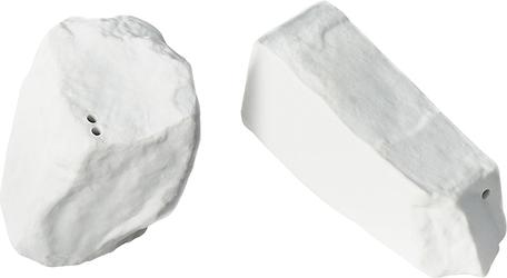 Solniczka i pieprzniczka Rock  Salt białe