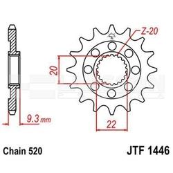 Zębatka przednia jt f1446-13 sc, rac 13z, rozmiar520 2201251 kawasaki kx 250