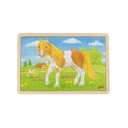 Konik drewniane puzzle 24 el.