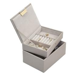Pudełko na biżuterię podwójne mini Stackers taupe