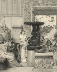 Reprodukcja the sculpture gallery, lawrence alma-tadema
