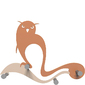 Wieszak ścienny Owl CalleaDesign terakota 13-007-24