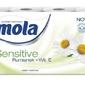 Mola sensitive rumianek + wit. e, papier toaletowy, 3 warstwy, 8 rolek
