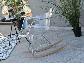 Fotel bujany na taras tunis wood transparentny