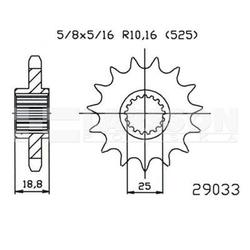 Zębatka przednia jt 50-29033-19, 19z, rozmiar 525 2201416 bmw f 800 800