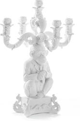 Świecznik burlesque chimp biały