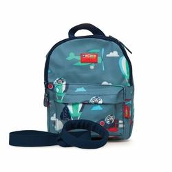 Plecak ze smyczą, Małpki, niebieski, Penny Scallan