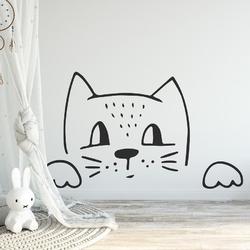 Naklejka na ścianę - foxy cat , wymiary naklejki - szer. 60cm x wys. 30cm