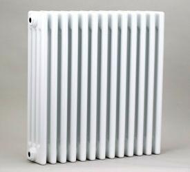 Grzejnik pokojowy retro - 3 kolumnowy, 600x600, białyral - paleta ral